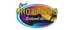 Chris' Ono Grinds Island Grill Logo