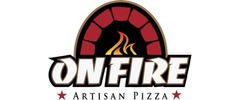 On Fire Artisan Pizza Logo