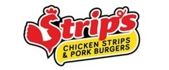 Strip's Chicken Strips & Pork Burgers Logo