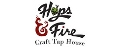 Hops & Fire Craft Tap House Logo
