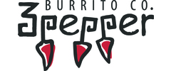 3 Pepper Burrito Logo