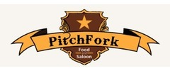 Pitchfork Food and Saloon Logo