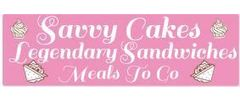Savvy Cakes and Legendary Sandwiches Logo