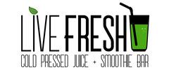 Live Fresh Cold Pressed Juice + Smoothie Bar Logo
