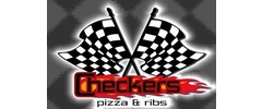 Checkers Pizza and Ribs Logo