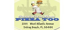 Sandwich Man Pizza Too Logo