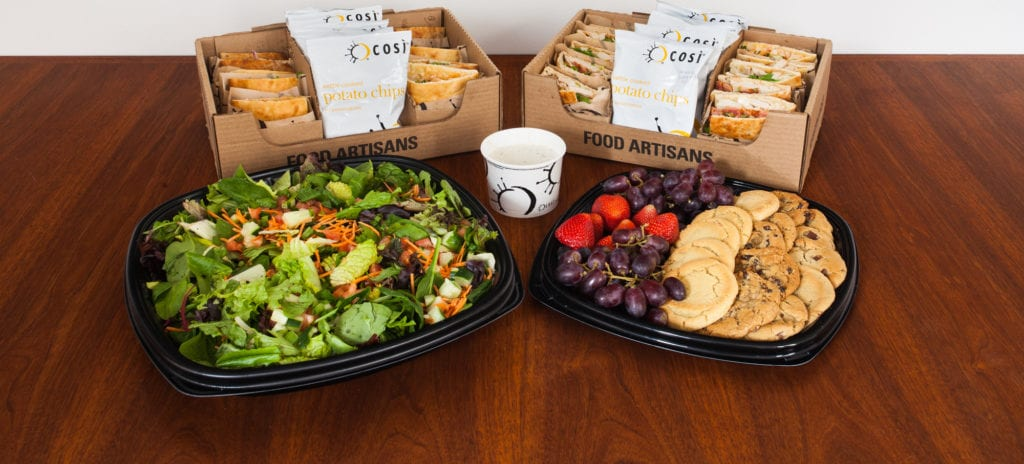 Whether you want a filling breakfast or lunch platter, it's easy to find delicious catering options from Cosi.