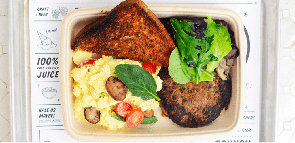 Try this delicious tofu scramble, one of the tofu dishes offered by Chloe.