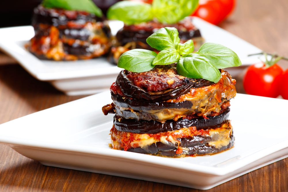 If you need Italian catering ideas for casual team meetings, try eggplant parmesan, which is delicious and filling.