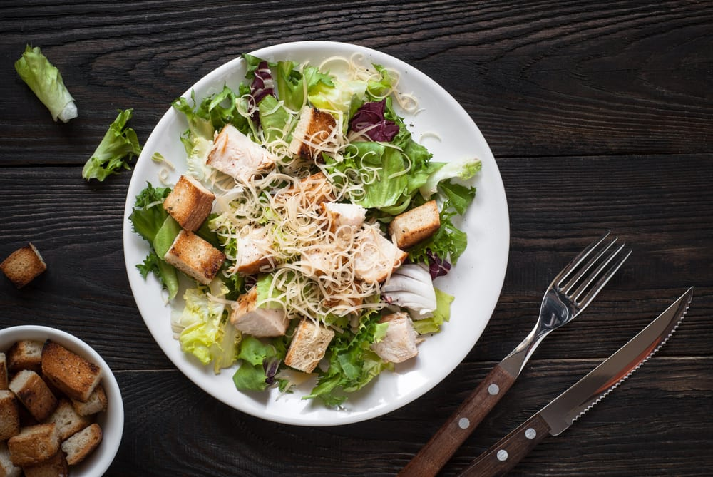 Italian catering ideas like the Caesar salad are not only affordable but tasty.