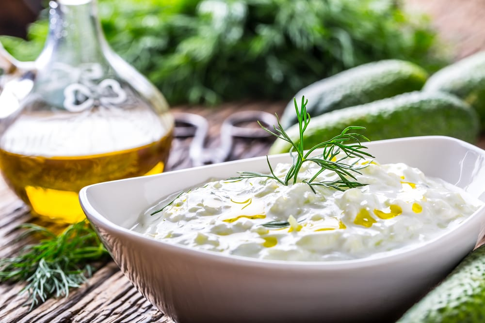 From kebabs to Israeli salad, you'll find Mediterranean foods listed on restaurant and catering menus near your office.