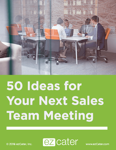 50 ideas for your next sales team meeting.