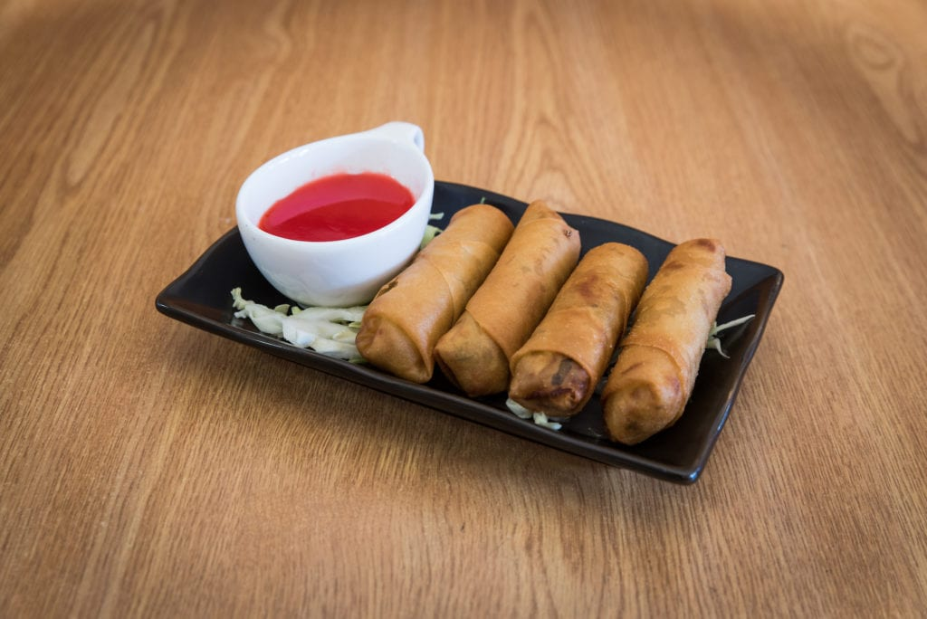 If you need Chinese catering ideas for a formal meeting, where people need to use their laptops, consider ordering a platter of easy-to-eat apps.