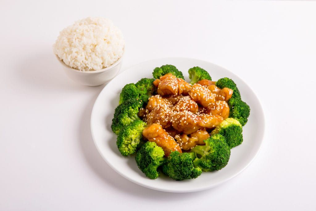 Bookmark this list of Chinese catering ideas so you remember to order dishes like this one, sesame chicken.