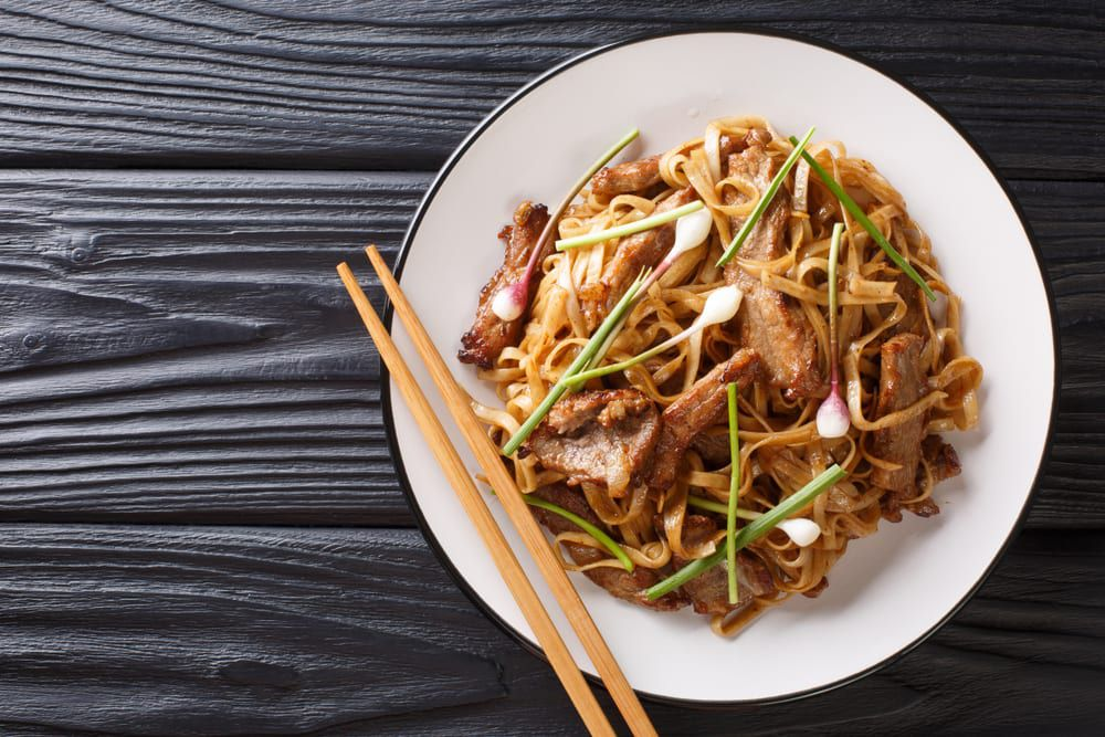 For your next meeting, try some of our favorite catering ideas for a Chinese menu, like beef chow fun.