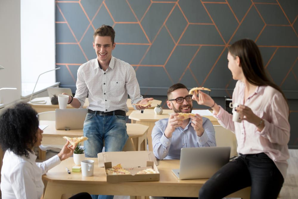 Setting up the break room with art supplies is a great employee appreciation idea that recognizes your team's creative talents.