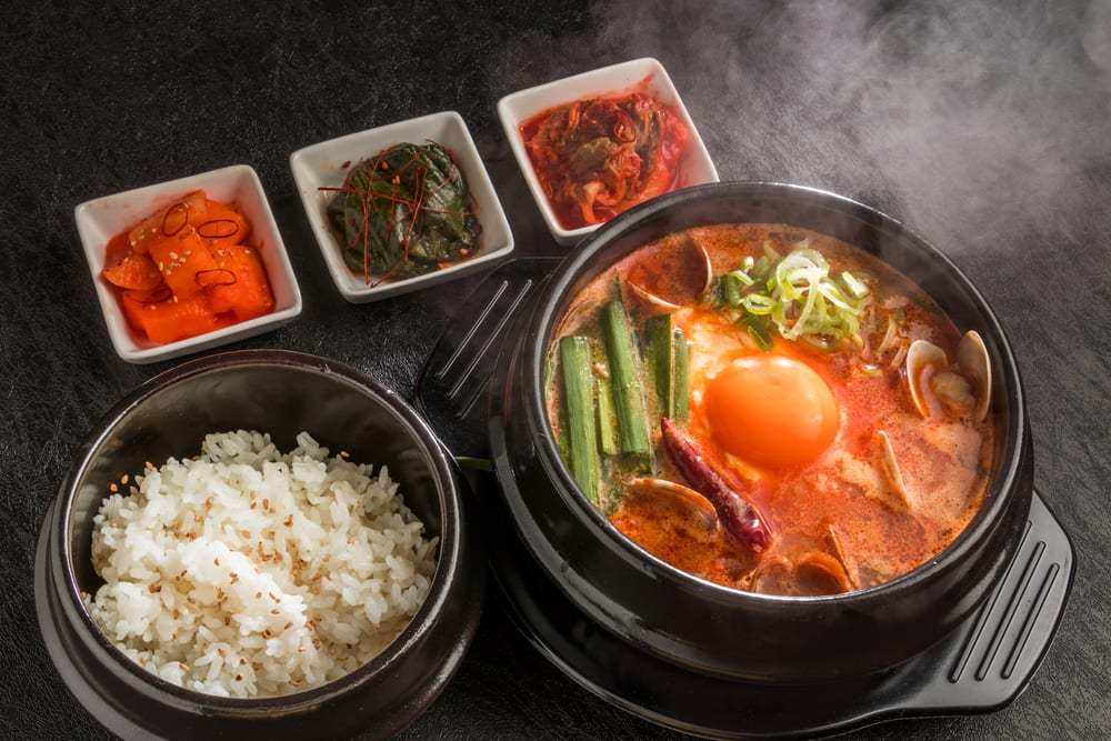 This seafood-filled stew is a great idea for Korean catering.