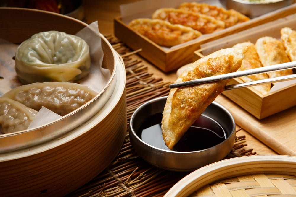 If you need affordable Korean catering ideas for a work event, you can't go wrong with chewy dumplings.