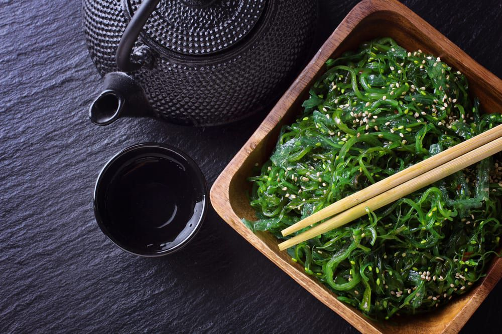 Seaweed salad is a perfect appetizer when you're ordering sushi catering for the office.