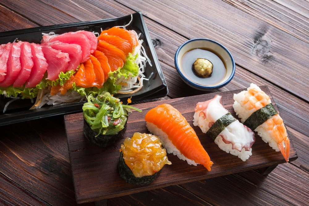 If you're planning sushi catering for your office, consider sashimi, pieces of delicate, raw fish without any rice or additional ingredients.