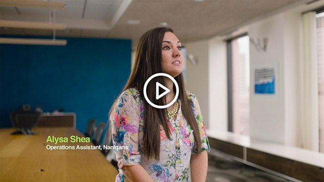 Listen to Alysa Shea, Operations Assistant at Nanigans, talk about how lunches ordered from ezCater bring people at her company together.