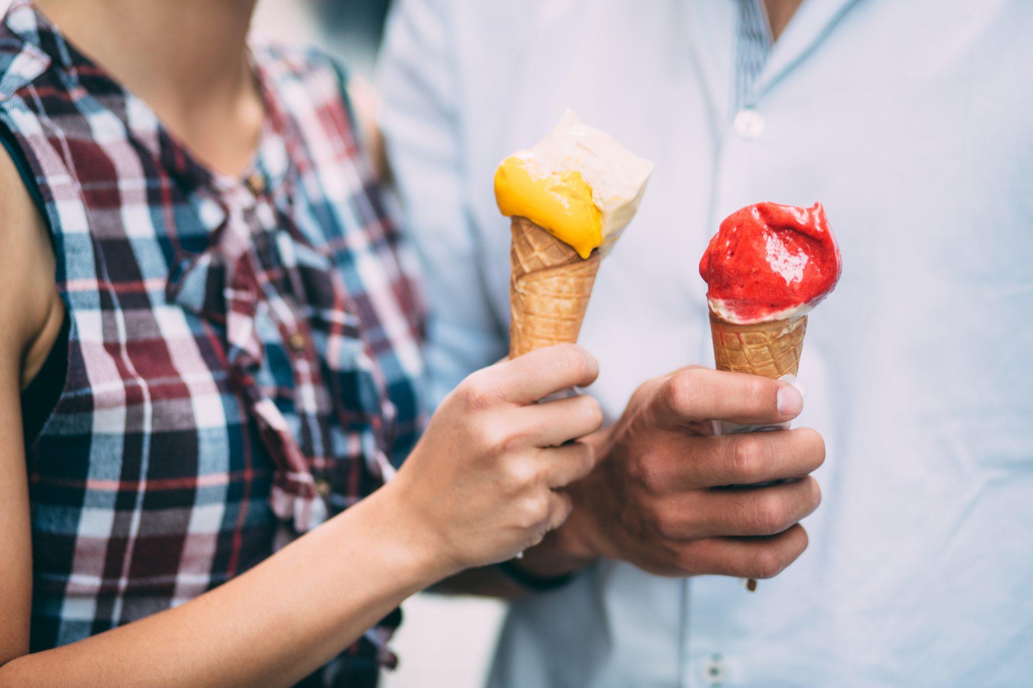 Couple with Ice Cream Cones in the City