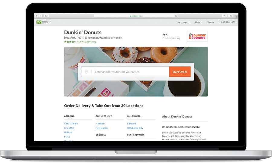 Dunkin' Donuts Online Ordering Catering