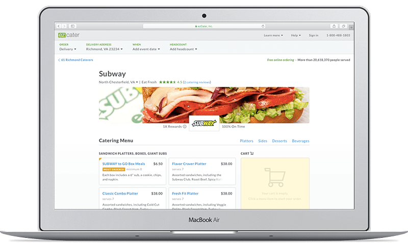 Subway Catering Online Ordering