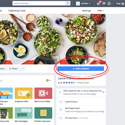 Facebook Business Page Add Button