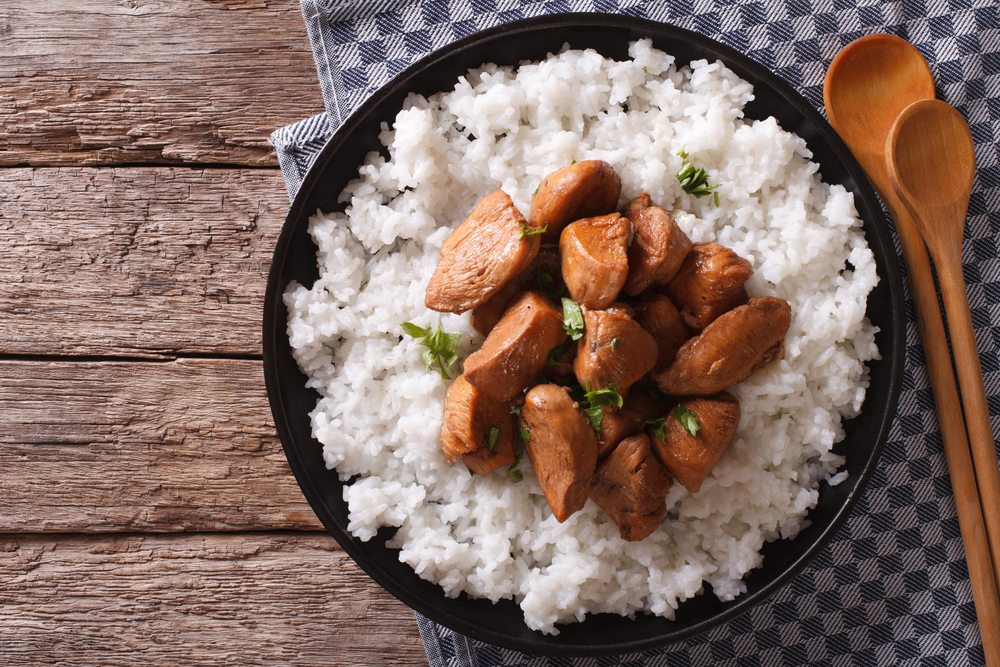 Adobo over rice is the perfect chicken dish.