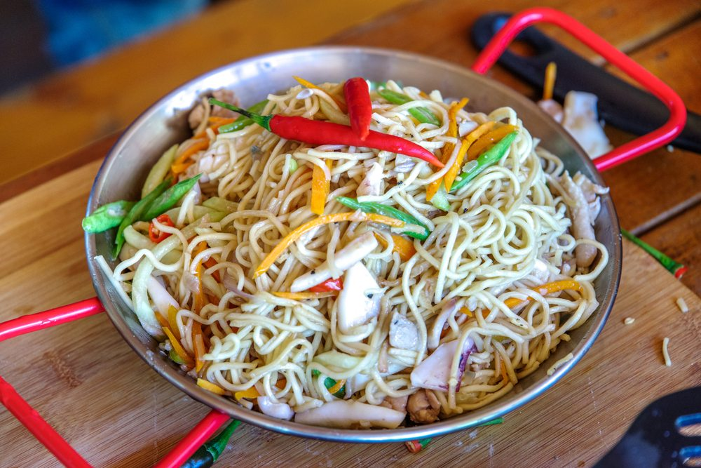 Pancit Bihon is the Filipino answer to lo mein.
