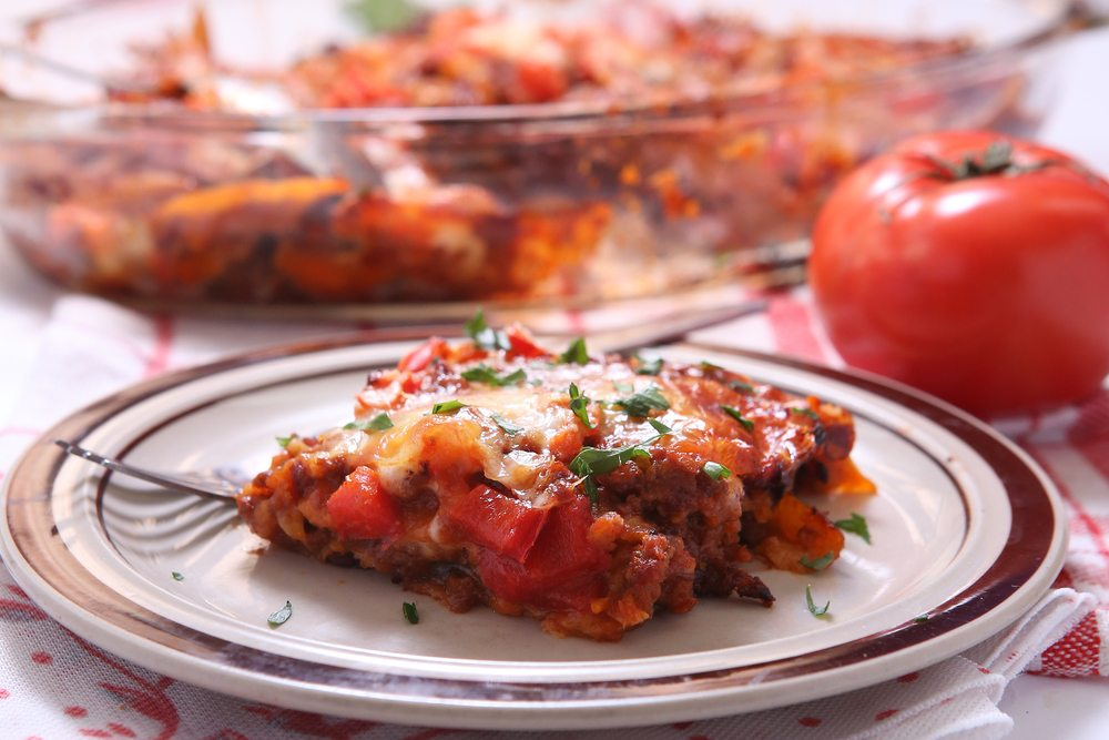 Gluten-free Mexican lasagne