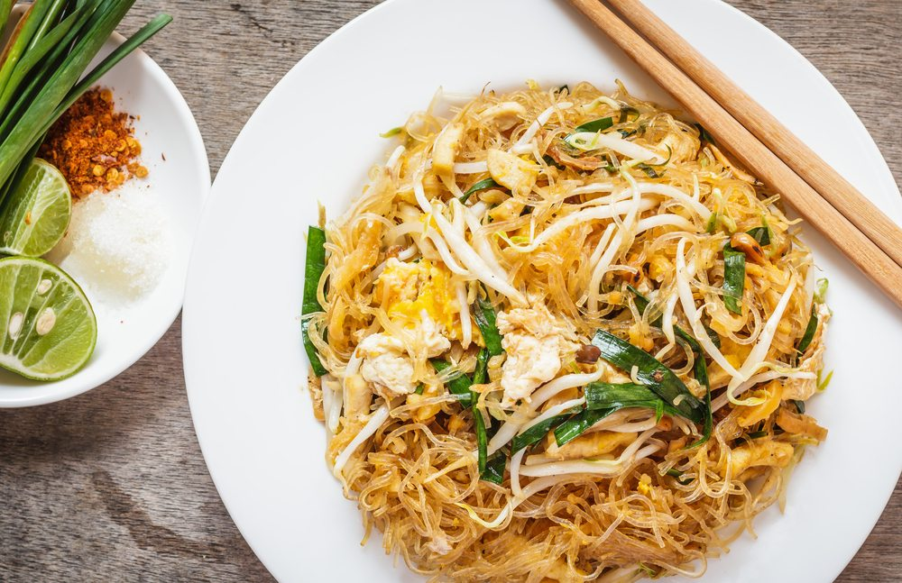 Gluten-free catering rice bowl noodles