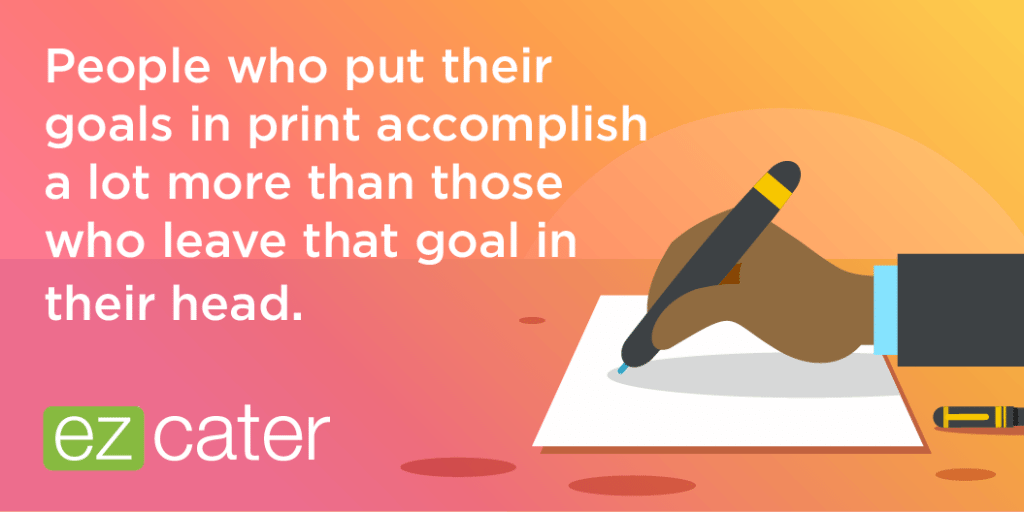Put your administrative assistant goals on paper