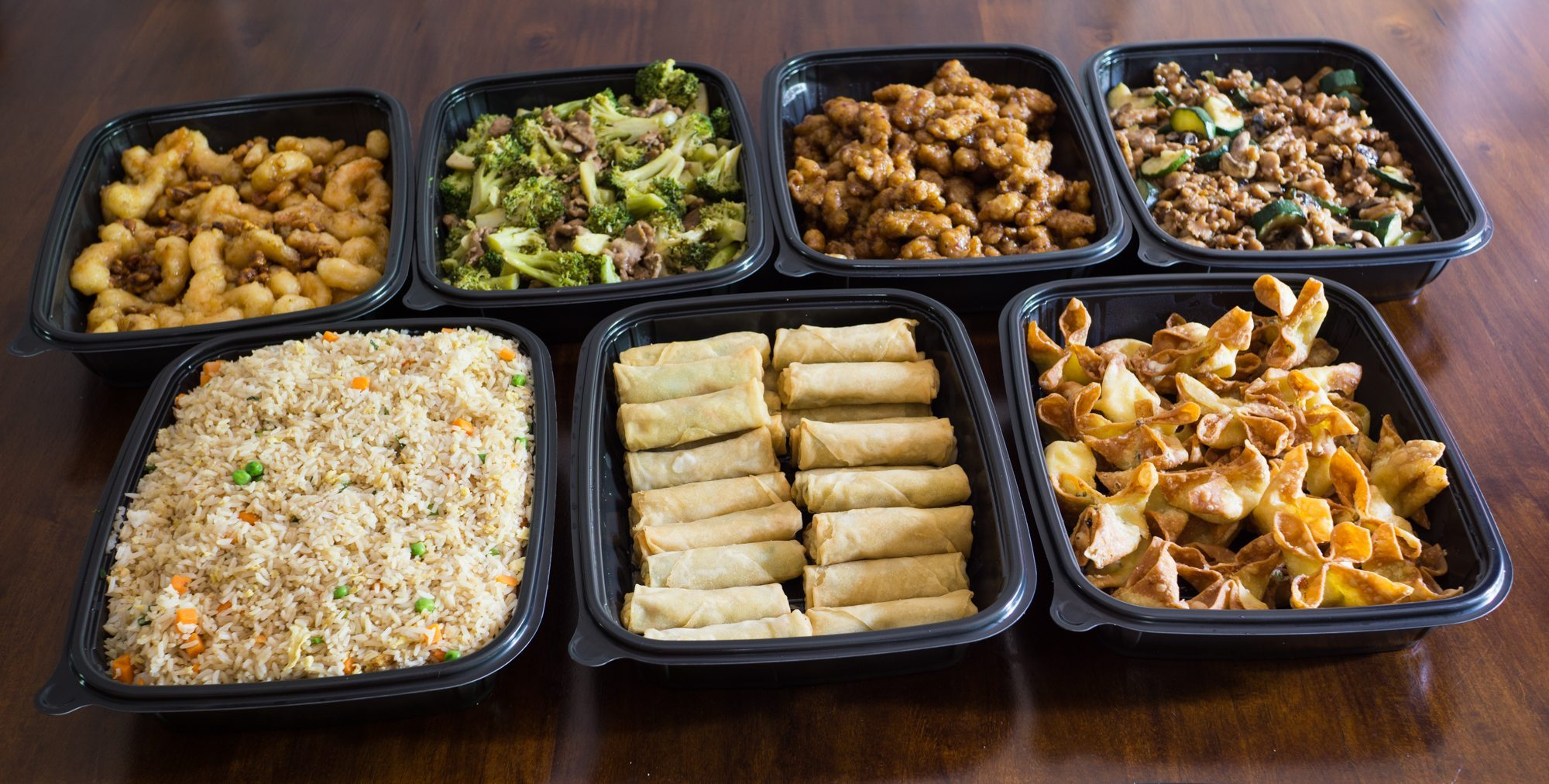Panda Express menu prices and items are generally listed by category (chicken, seafood, meat, sides, etc). In the store, patrons can choose prepared dishes, combos, or create their own dishes. And, if you have an event in your future, try Panda catering.