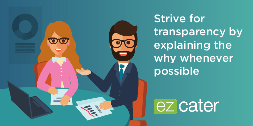 Strive for transparency in workplace culture