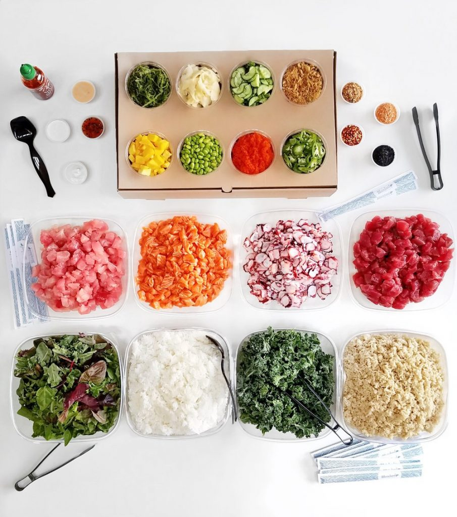 Mainland Poke Shop build your own poke bowl
