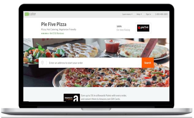 Pie Five Pizza Page Demo