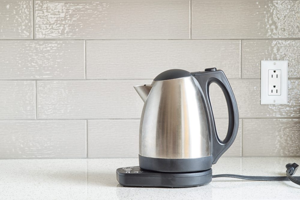 Electric kettle in office pantry