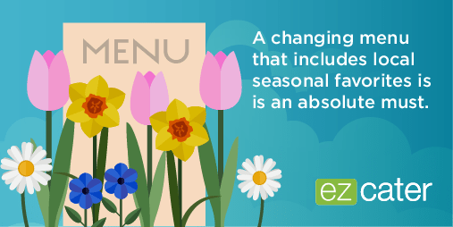 Updating your menu seasonally is a must