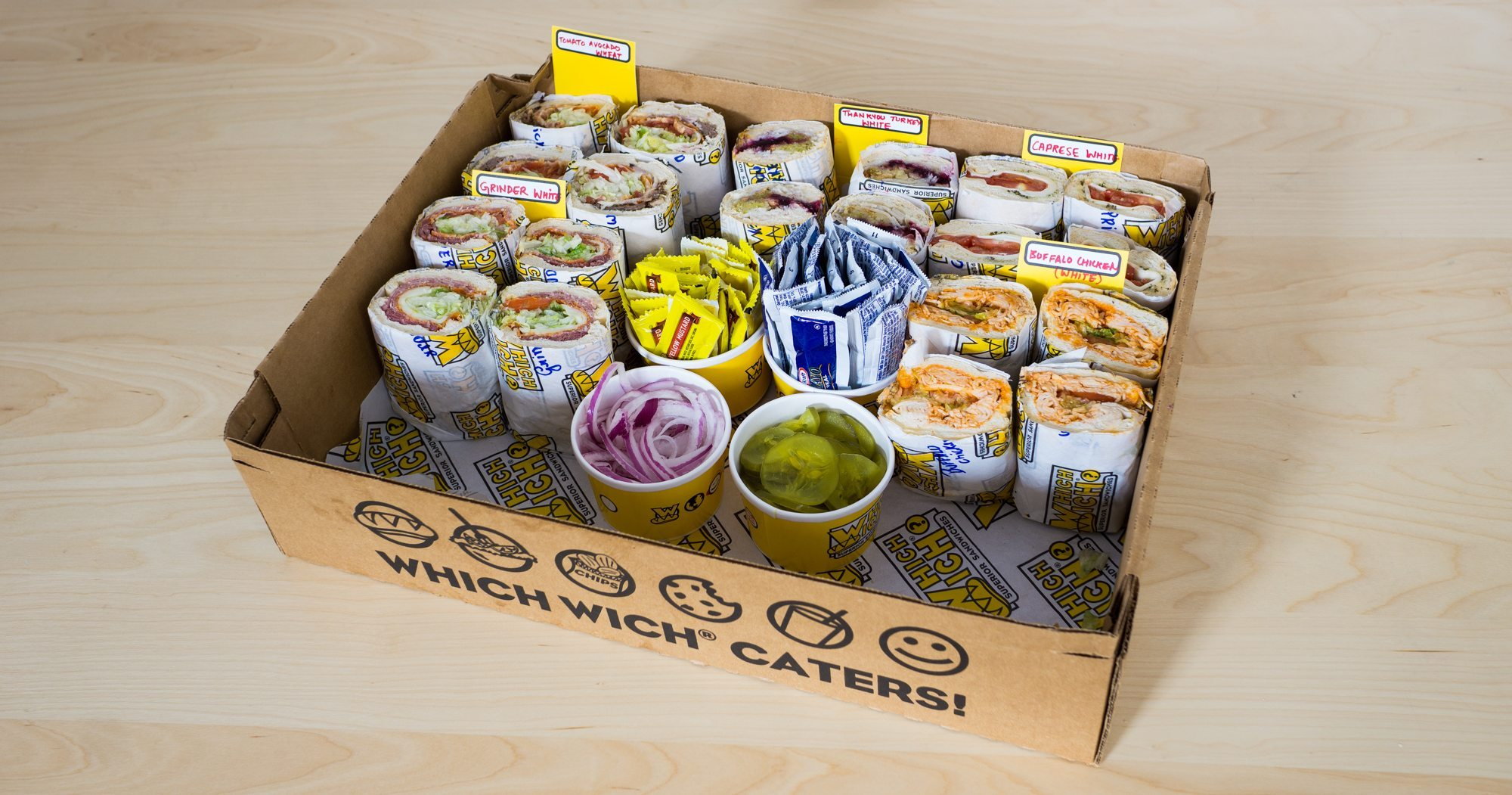 Which Wich Favorites Wich Tray