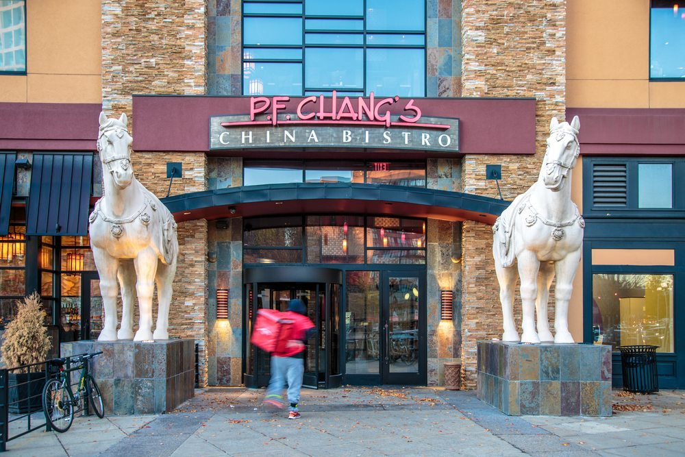 Legendary horse statues stand guard at every P.F. Chang's entrance as a symbol of strength.