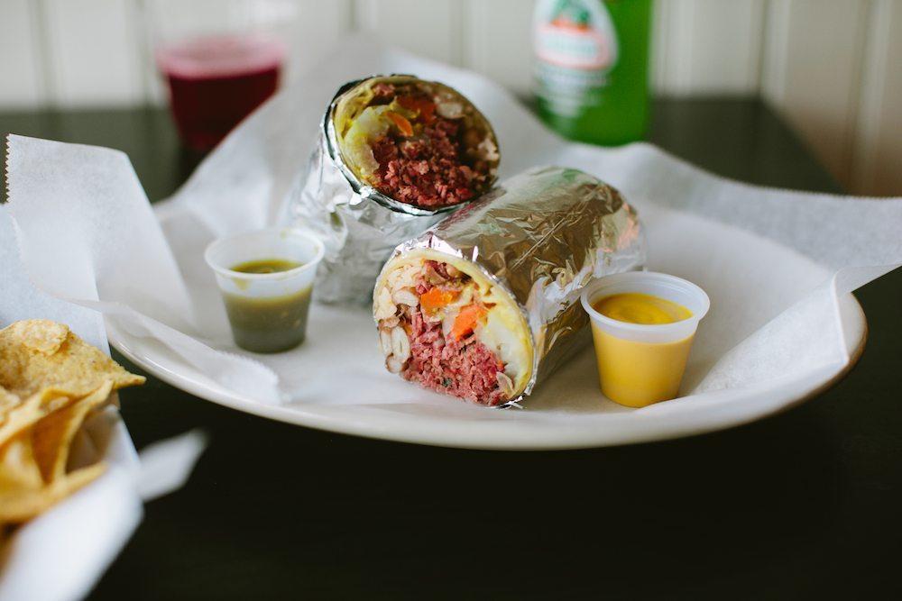 anna's taqueria st. patrick's day burrito