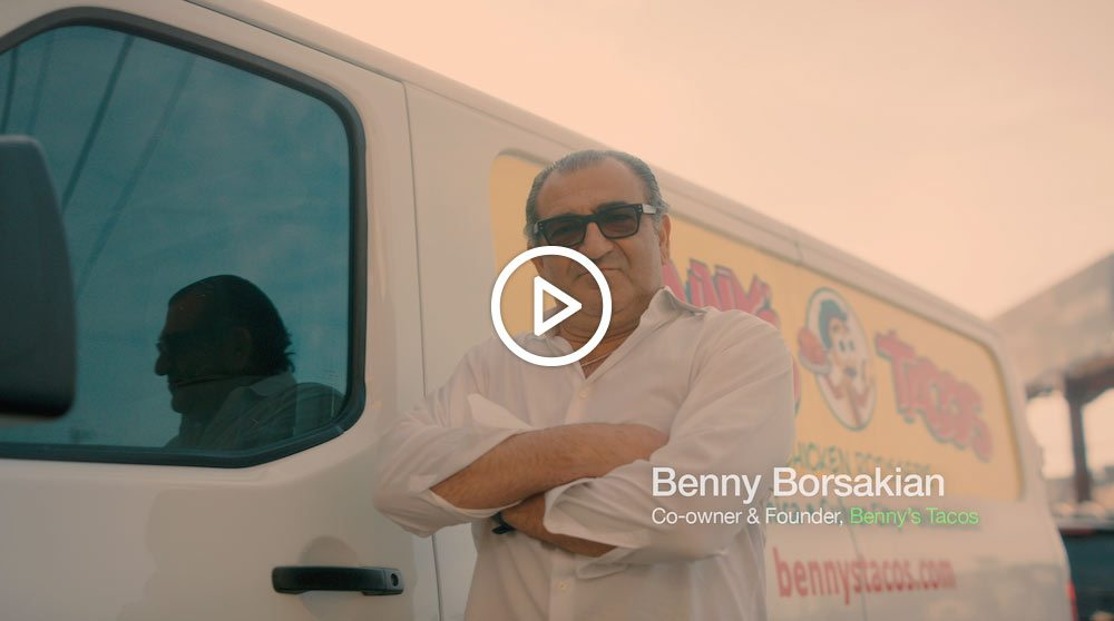 Listen to Benny Borsakian, the co-owner and founder of Benny's Tacos, talk about how ezCater helped him grow his business and find new customers.