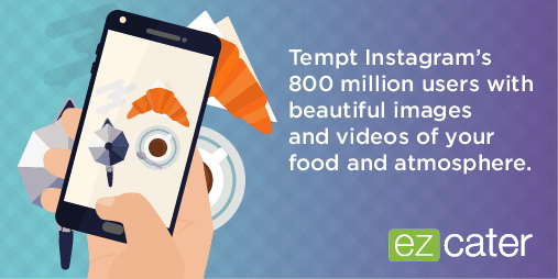 Tempt Instagram users with food photos