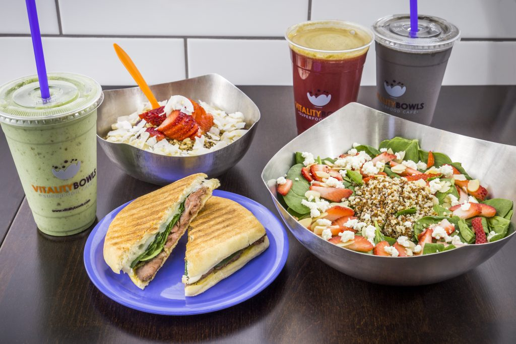 The Redwood City food scene is offering exciting food options like these dishes from Vitality Bowls.