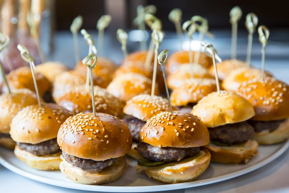 Save the office fridge for someone else's leftovers; here are 7 party finger foods that can last the stretch of the party unrefrigerated.