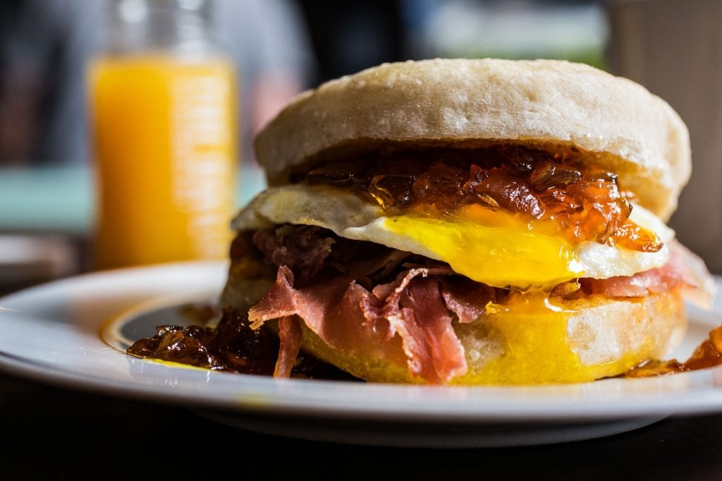 [Food trends for millennials in the workplace: Cheffy breakfast sandwiches]