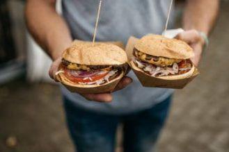 Assorted Sandwiches cut in half