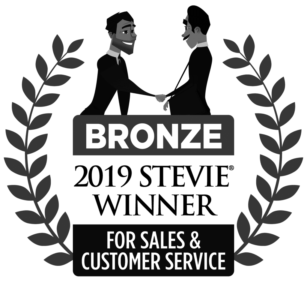 2019 Bronze Stevie Winner for Sales and Customer Service